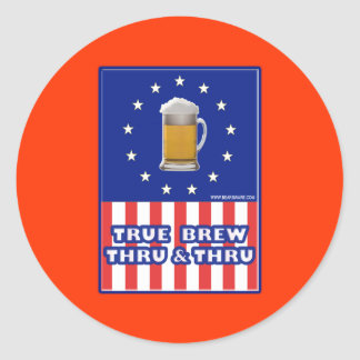 True Brew Thru & Thru Classic Round Sticker