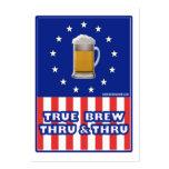 True Brew Thru & Thru Large Business Cards (Pack Of 100)