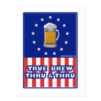 True Brew Thru & Thru Postcard