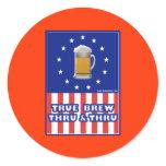 True Brew Thru & Thru Sticker
