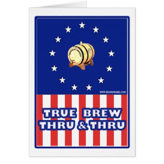 True Brew Thru & Thru Wine Card