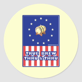 True Brew Thru & Thru Wine Classic Round Sticker