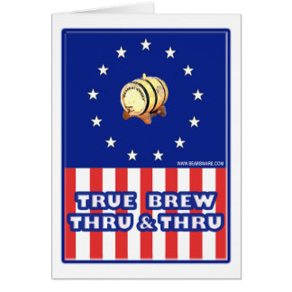 True Brew Thru & Thru Wine Greeting Card