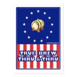 True Brew Thru & Thru Wine Large Business Card