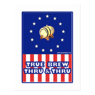 True Brew Thru & Thru Wine Postcard