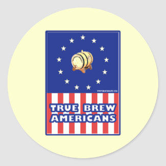True Brew Wine Americans Classic Round Sticker