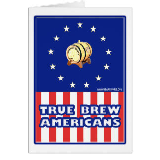 True Brew Wine Americans Greeting Cards