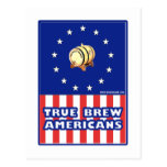 True Brew Wine Americans Postcard
