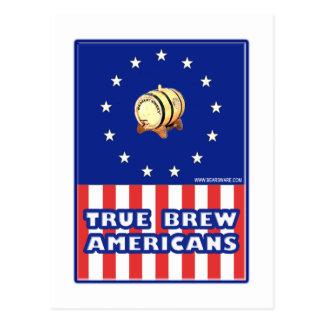 True Brew Wine Americans Postcard