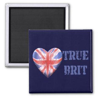 True Brit 2 Inch Square Magnet