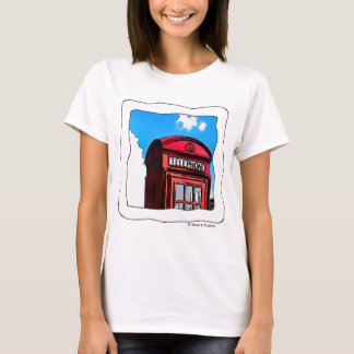 True Brit- Red British Telephone Box Apparel T-Shirt