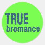 True Bromance (Blue) Classic Round Sticker