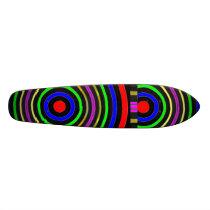 TRUE Color : Circular Energy Waves Skateboard