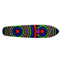 TRUE Color : Circular Energy Waves Skateboard Deck