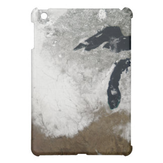 True-color image of snow iPad mini cover