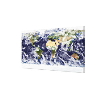 True-color image of the entire Earth Canvas Print