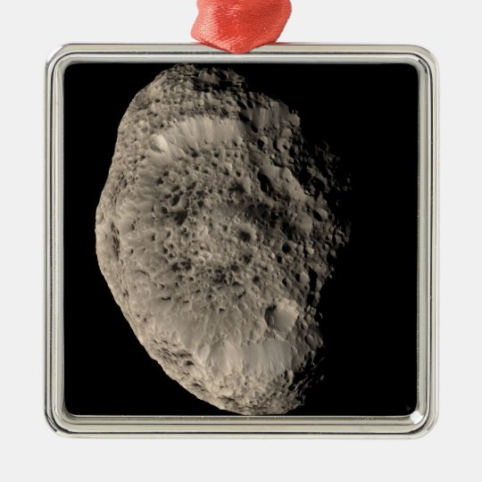 True color mosaic of Saturn's moon Hyperion Metal Ornament