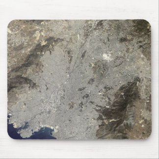 True-color satellite view of central Athens Mouse Pad
