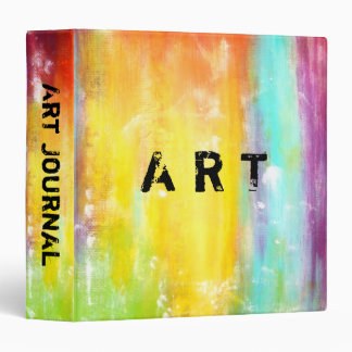 True Colors Abstract Art 3 Ring Binder