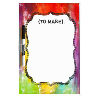 True Colors Abstract Art Dry-Erase Board