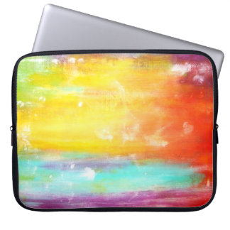 True Colors Abstract Art Laptop Sleeve