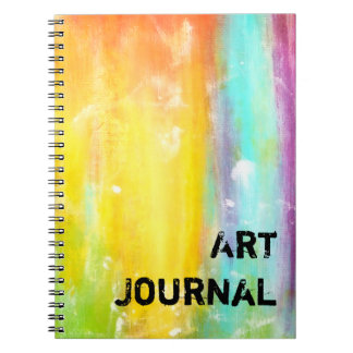 True Colors Abstract Art Notebook