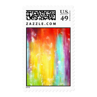 True Colors Abstract Art Stamp
