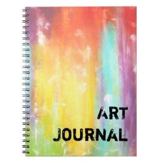 True Colors Abstract Art Spiral Notebook