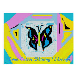 True Colors Butterfly Poster