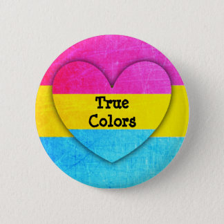 True Colors Pansexual Flag  Button