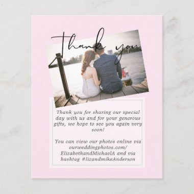 True Colors PHOTO Thank You Letter Budget Wedding