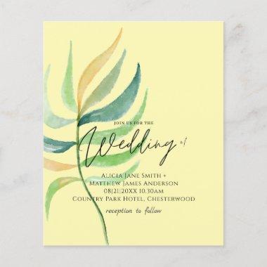 True Colors TROPICAL LEAF Budget Wedding Invites