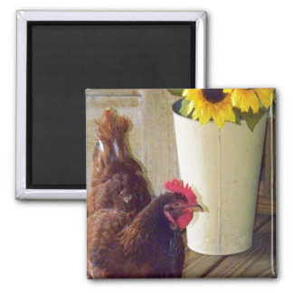 True Country 2 Inch Square Magnet
