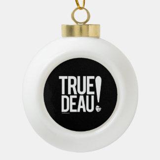 True deau - white .png ceramic ball christmas ornament