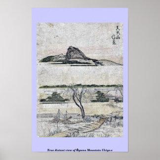 True distant view of Ōyama Mountain Ukiyo-e Print