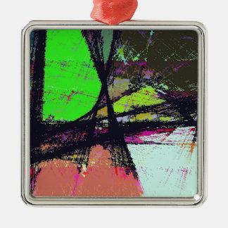 True Escape Silver-Colored Square Decoration