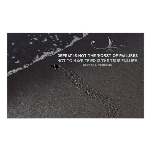 True Failure Inspirational Poster Print