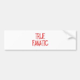 True Fanatic Car Bumper Sticker