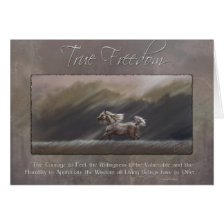 True Freedom by Kim McElroy Greeting Card