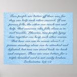 True friend bible verse Ecclesiastes 4:9–12 Poster