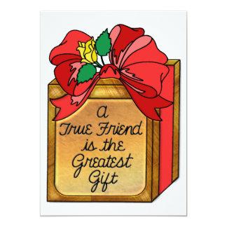 True Friend is Greatest Gift Custom Invite