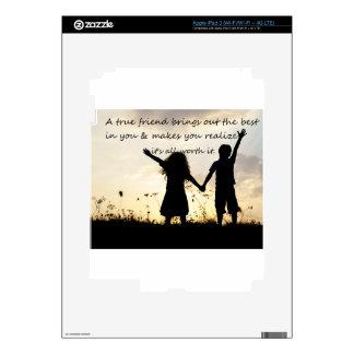 True Friend iPad 3 Decal