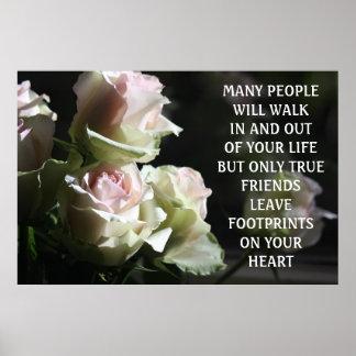 True Friends - words of wisdom Poster