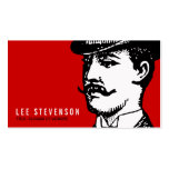 True Gentleman with Moustache and Bowler Hipster Pack Of Standard Business Cards
