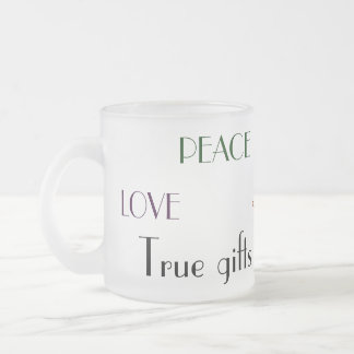 True gifts of Christmas Frosted Glass Coffee Mug