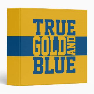 True Gold And Blue Vinyl Binders