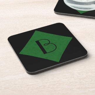 True Green Velvet Personalized Home Casino Coasters