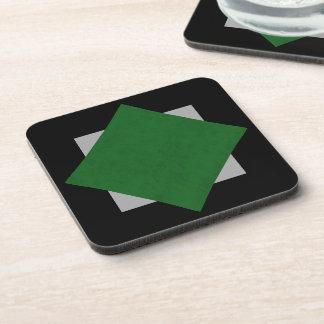 True Green Velvet Personalized Home Casino Beverage Coaster
