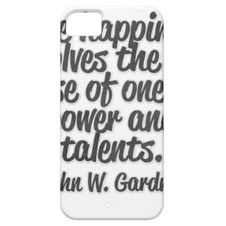 True happiness involves the full use of one's ... iPhone SE/5/5s case