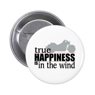 True Happiness is In The Wind Pinback Button